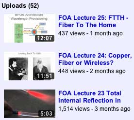 3 new FOA lectures on YouTube