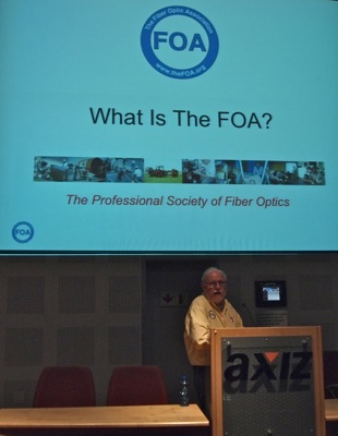 Jim Hayes, FOA, at the Johannesburg seminar