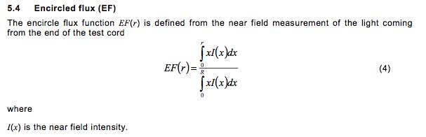 Definition of encircled flux