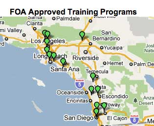 FOA-Approved School Map Zoom to CA