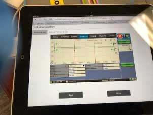 OTDR display on iPad