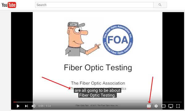 FOA YouTube  Video Closed Captioning