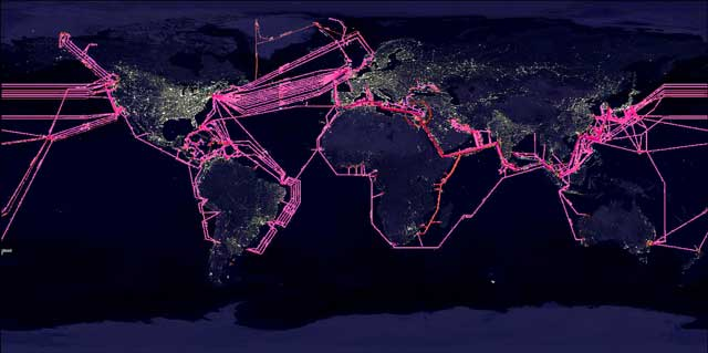 worldwide submarine fiber optic cables