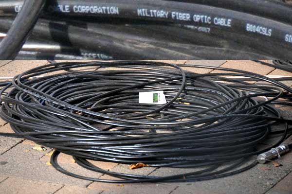 racetrack fiber optic cables